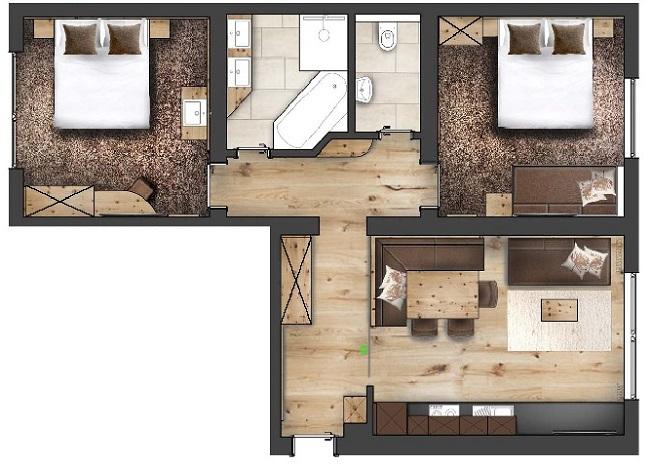 Hotel Garni Pazanella Ischgl_Appartement